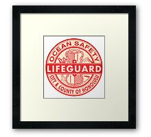 Hawaii Lifeguard Logo Framed Print