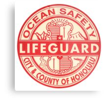 Hawaii Lifeguard Logo Metal Print