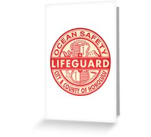 Hawaii Lifeguard Logo Greeting Card