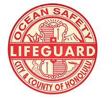 Hawaii Lifeguard Logo Photographic Print