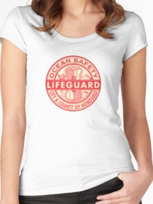 Hawaii Lifeguard Logo Women's Fitted Scoop T-Shirt