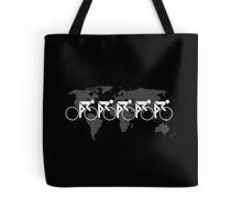 The Bicycle Race 3 White Tote Bag