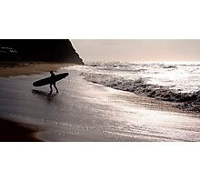 Silhouette of a surfer Photographic Print