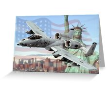 A-10 Thunderbolt  Greeting Card