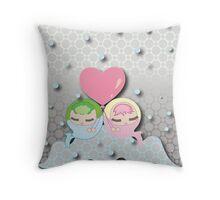 Bubble Babies Throw Pillow