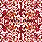 Scarlet Watercolor Damask by Tangerine-Tane