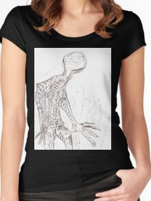 Distorted 001 Women's Fitted Scoop T-Shirt