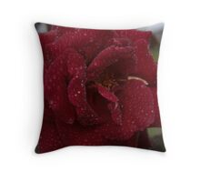 roze 'n' rain red Throw Pillow