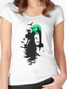 Fiddlesticks Crows Women's Fitted Scoop T-Shirt