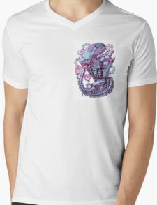 ROSE FROM A DISTANT STAR Mens V-Neck T-Shirt