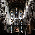 Hexham Abbey, the Nave. by John Dalkin