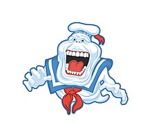 Funny Ghostbusters Slimer Stay Puft Marshmallow Man Mash Up Photographic Print