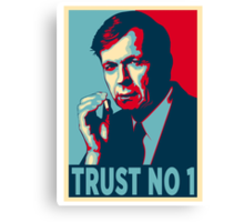 CIGARETTE SMOKING MAN TRUST NO 1 Canvas Print