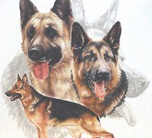 German Shepherd w/Ghost by BarbBarcikKeith