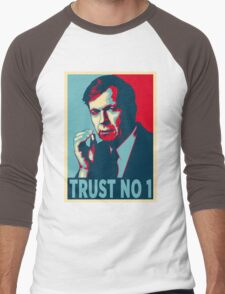 CIGARETTE SMOKING MAN TRUST NO 1 Men's Baseball ¾ T-Shirt