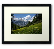 Switzerland Landscape Framed Print
