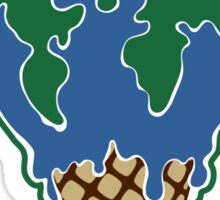 Melting earth Sticker
