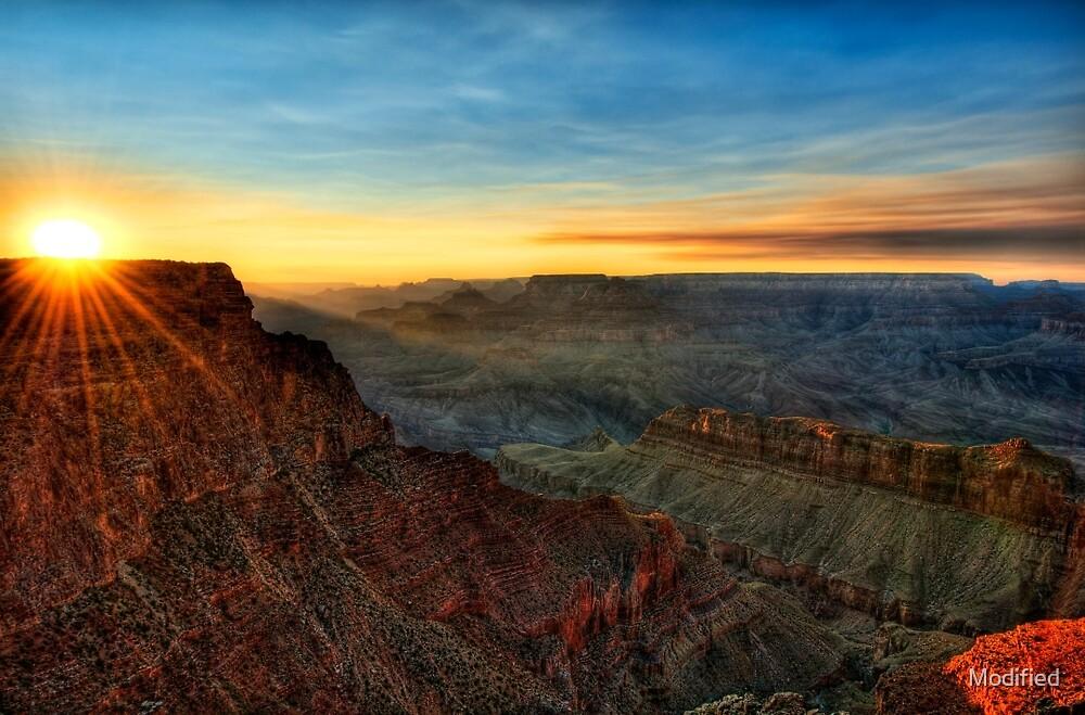 Grand Canyon Sunset by Modified