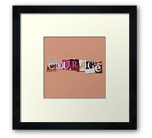 Klaine Courage Framed Print