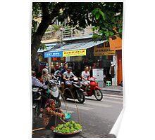 The Fruit Saleswoman - Hanoi, Vietnam. Poster