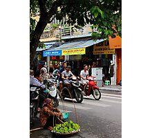 The Fruit Saleswoman - Hanoi, Vietnam. Photographic Print