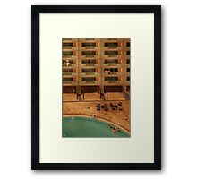 Hotel Pool Framed Print