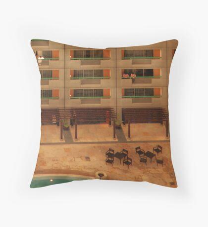 Hotel Pool Throw Pillow