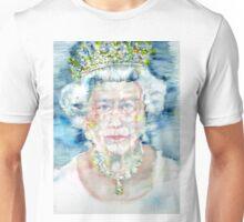 ELIZABETH II - watercolor portrait Unisex T-Shirt