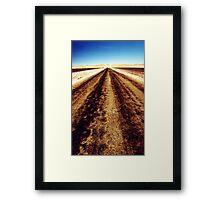 Remote road Framed Print