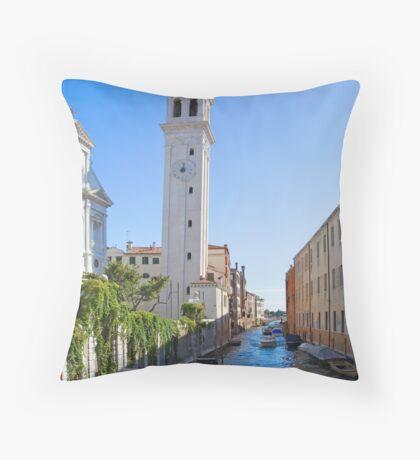 Venetian Canal Throw Pillow