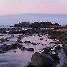 moon over the horizon by kathywaldron