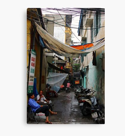 The Dark Alley - Hanoi, Vietnam. Canvas Print