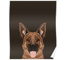Skylar - German Shepherd gift ideas for dog person and dog people gifts Poster