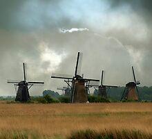 Dutch windmills by JBlaminsky