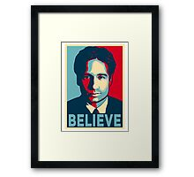 FOX MULDER BELIEVE Framed Print