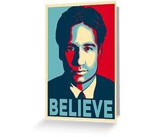 FOX MULDER BELIEVE Greeting Card
