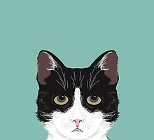 Quinn - Cute black and white cat gifts for cat person and cat lady gifts by PetFriendly