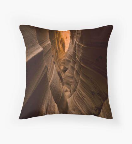 Zebra Slot Canyon Throw Pillow