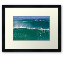 Green Tinted Glass Framed Print