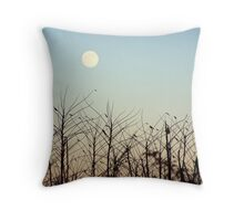 Early Evening Moon Throw Pillow