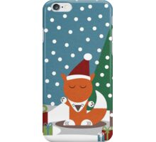 Happy Holidays with Fox iPhone Case/Skin