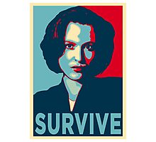 DANA SCULLY SURVIVE Photographic Print