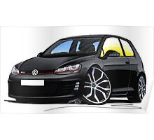 VW Golf (Mk7) GTi Black Poster