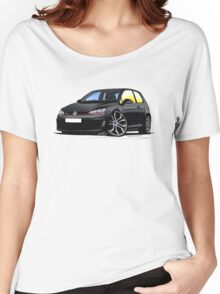 VW Golf (Mk7) GTi Black Women's Relaxed Fit T-Shirt