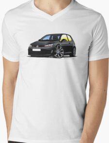 VW Golf (Mk7) GTi Black Mens V-Neck T-Shirt