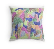 Mr. Johnson & Friends at the Park Throw Pillow