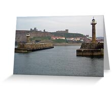 Whitby Port, Yorkshire, England Greeting Card