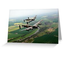 Two Lancasters over the Upper Thames Greeting Card