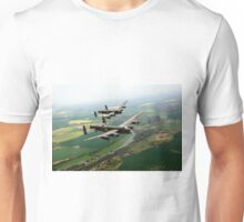 Two Lancasters over the Upper Thames Unisex T-Shirt