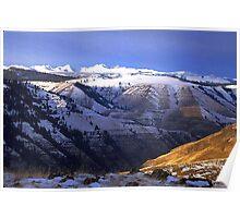 Rail Canyon Winter Poster